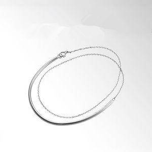 Thin double wrap bracelet in silver