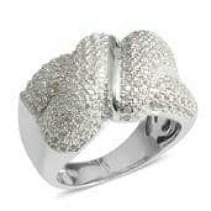Jewelry - 💠NEW💠SIMULATED DIAMOND STERLING SILVER RING