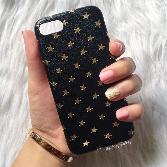 outlet store 104e0 2a8ca ❤️SALE❤️ black and gold star iPhone 7 phone case Boutique