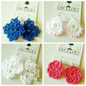 Jewelry - Handmade Crochet Earrings