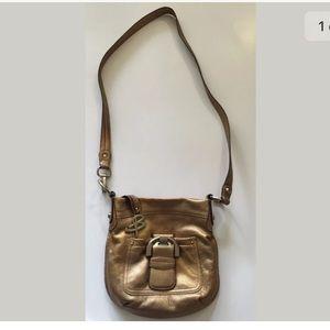 Handbags - B.Makowsky Crossbody Bag Gold