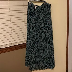 Laundry pleated maxi skirt