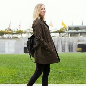 Tobi Jackets & Blazers - Olive Green Trench Coat