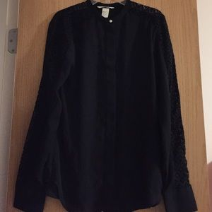 H&M black button down shirt