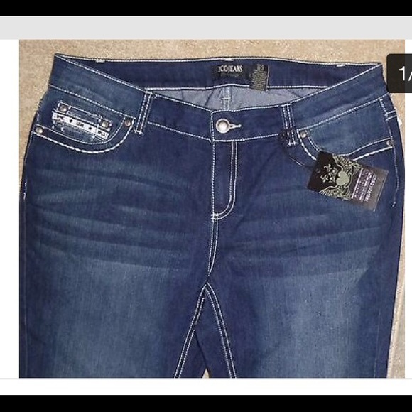 65% off ZCO Denim - NWT Zco slim boot jeans. Plus size 16 from
