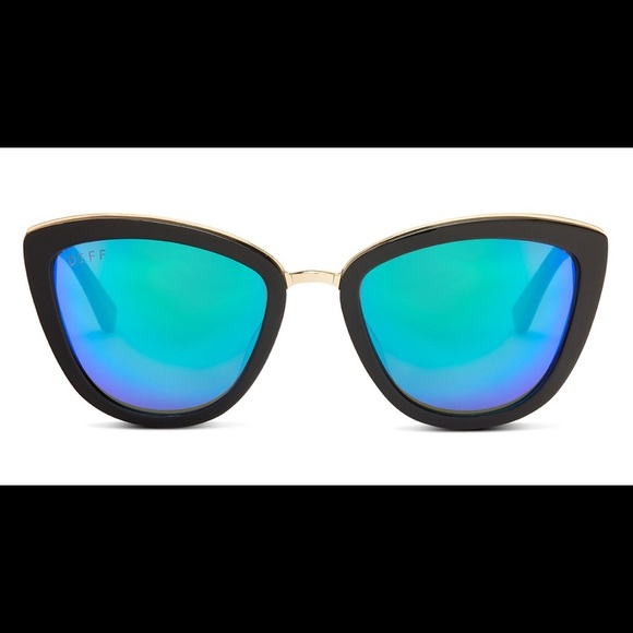 81383d8ac6 DIFF Eyewear - Rose- Black Blue Mirrored Lens