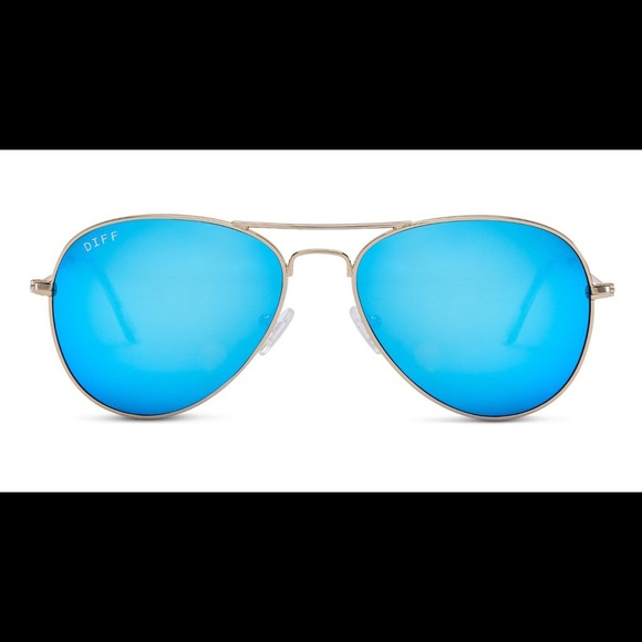03768f5b96 DIFF Eyewear Cruz - Gold Blue Mirrored Aviators