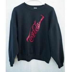 Vintage Coca Cola Graphic Crewneck Sweatshirt
