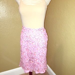 Pink pattern skirt size 10