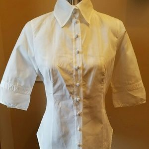 Anne Fontaine Tops - Anne Fontaine Stunning White Button Down Blouse
