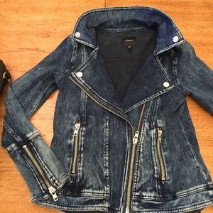 Liverpool Jeans Company Jackets & Blazers - 🌷BDAY SALE🌷Acid Handsand Stretchy Jean Moto