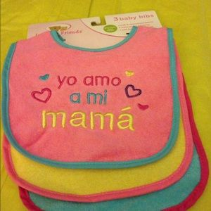 Luvable Friends Other - Girls bibs