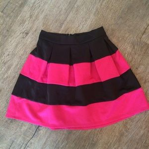 Pink and black skirt