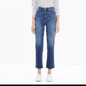 Madewell high rise crop flares size 24