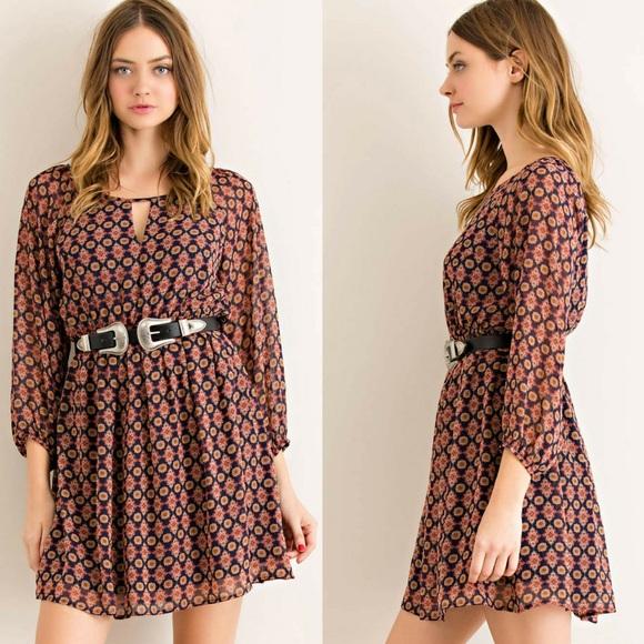 classic Paper Doll Dresses & Skirts - ‼️SALE‼️Mandala Print Blouson Elasticized Dress