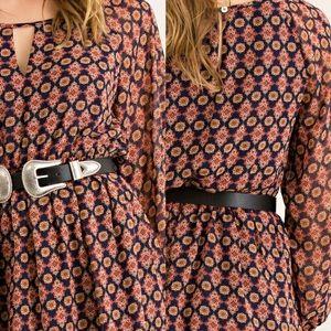 classic Paper Doll Dresses - ‼️SALE‼️Mandala Print Blouson Elasticized Dress