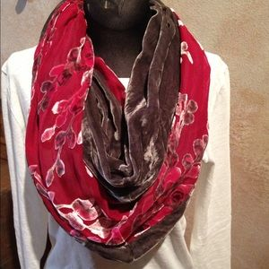 Accessories - Red and Gray Infinity Scarf