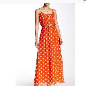 Eliza J Dresses & Skirts - 🐰🐥 💜Eliza beautiful long polka dot