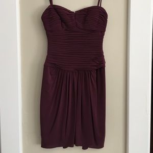 BCBG burgundy mini dress