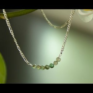 Jewelry - Sterling silver and Aventurine necklace