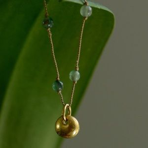 Jewelry - Gold and Aventurine necklace