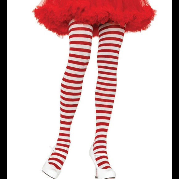 Tights AccessoriesPlus 3x4x Striped Size Christmas Leg Avenue lJcFK1