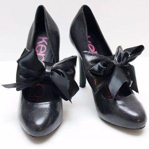 Kensie Girl Selina Black Vegan Leather Pumps