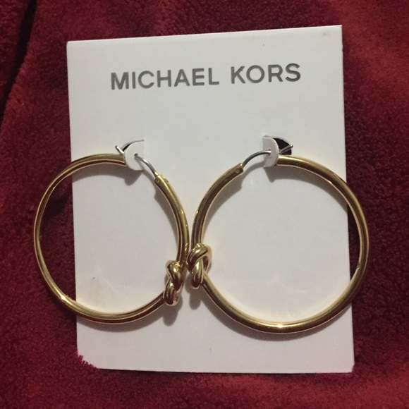 cb3c2899f4302a Michael Kors Jewelry | Gold Tone Knot Hoop Earrings | Poshmark
