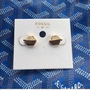 Brand new Gold fossil stud earrings