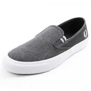 Fred Perry Other - ➡️NEW Fred Perry turner charcoal slip ons!
