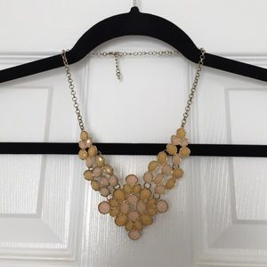 Francesca's Collections Jewelry - Blush and Tan Statement Necklace