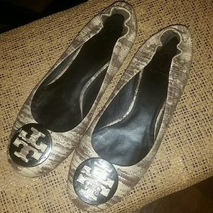 Tory Burch Brown Snake Skin