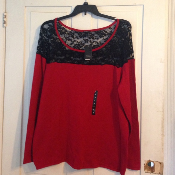 63% off torrid Sweaters - Torrid size 2 red and black sweater from ...
