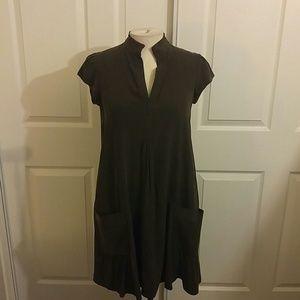 Chocolate silk DVF Swing Dress w/pockets