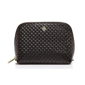 Tory Burch Marion Embossed Patent Cosmetic Case 