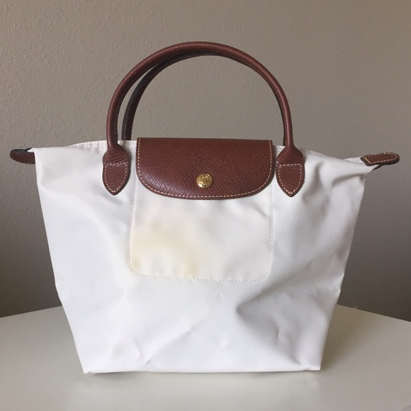dedbb0665b0c Longchamp Handbags - Longchamp Small Le Pliage Nylon Bag Cream  White