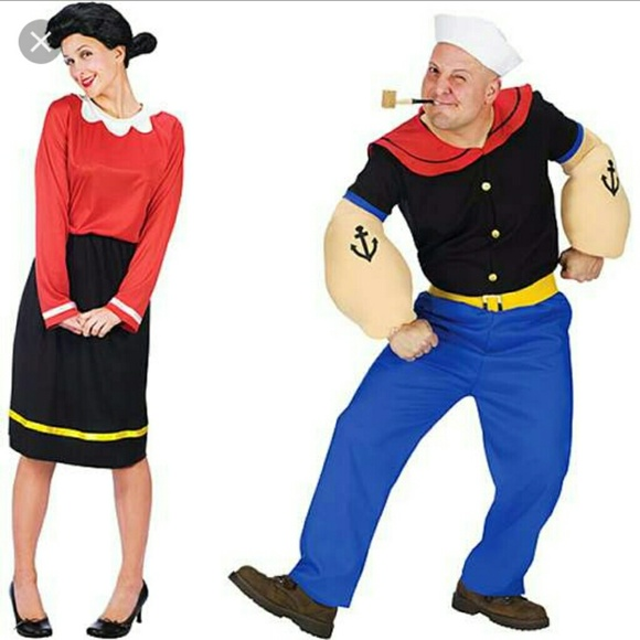 popyeye and olive oyl halloween costume set