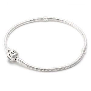 Pandora Sterling Silver Bracelet with Barrel Clasp