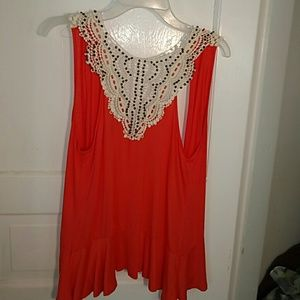 Daytrip Jackets & Blazers - NWOT Beaded Crochet Daytrip Fit and Flare Vest