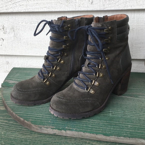 76% off Lucky Brand Shoes - Lucky Brand Army Green Combat Boots