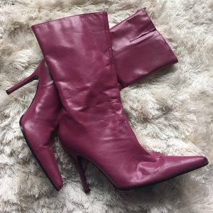 Aldo Shoes - Aldo purple heeled boots