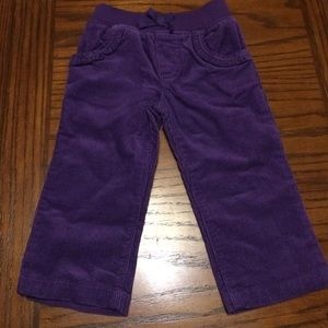 Other - Baby Girl's Purple Corduroy Pants Size 12months