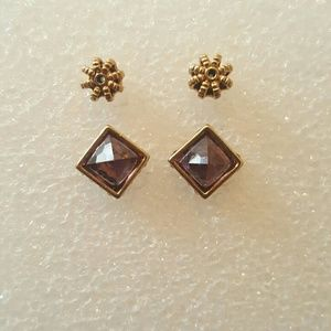 Juicy Couture Purple Pyramid Studs