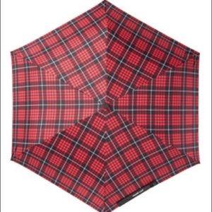 NWT Steve Madden Red Plaid Umbrella