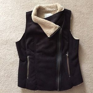hinge Tops - Hinge faux fur and suede vest