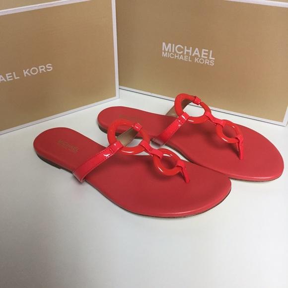 879cd15c4 Michael Kors Claudia Flat Sandal... Coral Reef