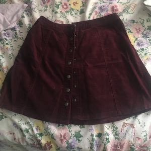 Burgundy/ maroon  skirt