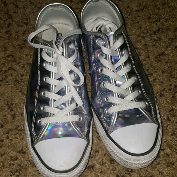 Converse Shoes Holographic Poshmark