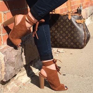 Shoes - Jewell | Wrap Suede Booties