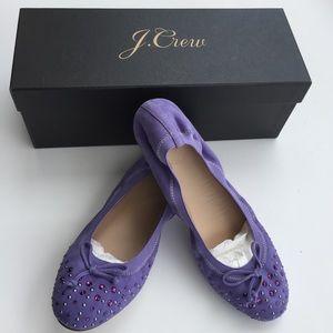 J. Crew Shoes - J.Crew Ava Crystal Cap Toe Ballet Flats